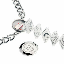 """SOS Talisman Stainless Steel Pendant Snooker and 22"""" Chain"""