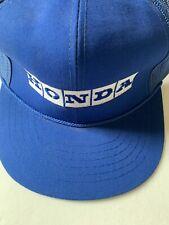 Vintage Honda Trucker Mesh Back Cap Hat SnapBack Blue