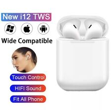 New listing New i12 Tws Wireless Bluetooth 5.0 Headphones! *White* Usa Shipping