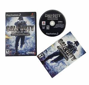 Call of Duty: World at War Final Fronts (Sony PlayStation 2, 2008) CIB See Desc