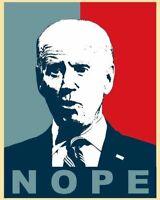 """Anti Joe Biden """"NOPE"""" Sticker - 4 Inches"""
