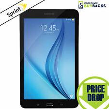 "Samsung Galaxy Tab E T377P, 8"", 16GB, WiFi+Sprint 4G LTE, Tablet, Black"