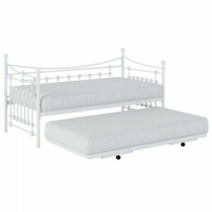 Kidsaw, Leaf Daybed with Trundle - White,Modern,Single,BedFrame,Stylish