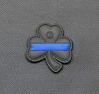 Thin Blue Line Clover PVC Uniform Patch Police Morale Lucky Irish LEO Hook