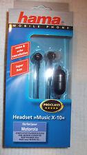 neu - Hama Music X-5 Headset für Sony Ericsson Neu und OVP!
