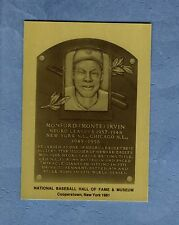 MONTE IRVIN, Giants~Cubs & Negro League~Official Hall of Fame METAL plaque-card