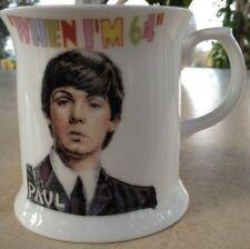 The Fab Four When I'm 64 Mug Paul McCartney Ideal 64th Birthday Gift Retirement