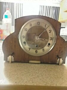 1930s foreign westminster chime clock working in lovely condition