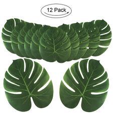 12×Large Tropical Palm Leaves Monstera Leaf Beach Hawaiin Luau Party Table Decor
