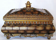 JEWELRY CHEST OR BOX - BRICK PATTERN - REMOVEABLE LID