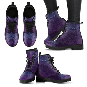 Owl Purple Handcrafted Women's Vegan-Friendly Leather Boots