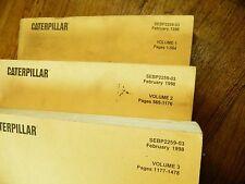 CAT Caterpillar 5230 EXCAVATOR PARTS MANUALS VOL 1, 2 & 3  SEBP2259-03 FEB1998