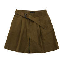 Banana Republic Womens Brown Shorts With Belt Pleaded Front Size 6