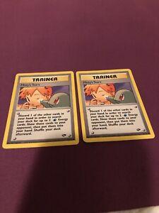 Misty's Tears pokemon card 118/132 Gym Challenge - x2 NM/LP
