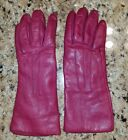 Coach Womens Leather Gloves Cashmere Lined Pink Size 6 1/2