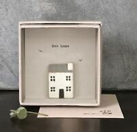 East Of India Boxed Card New Home Moving House Decoration Gift Wooden House