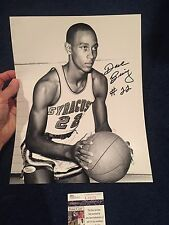 DAVE BING SIGNED AUTOGRAPHED 11 by 14 PHOTO SYRACUSE BASKETBALL SU JSA PISTONS