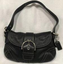 Coach No.G04S-9247 Soho Double Front Pocket Satchel Handbag Purse Black Leather