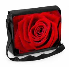 Red Rose Laptop Messenger Bag - Floral Flowers