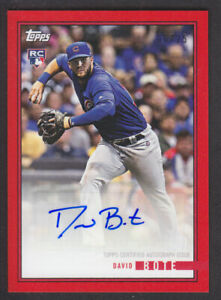 Topps On Demand Rookie Review 2018 - David Bote Cubs Autograph Red 06/25 RC