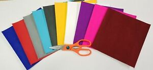 10 x 1mtr rolls of MULTI colours STICKY BACK SELF ADHESIVE FELT / BAIZE