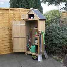 Wooden garden tool storage shed