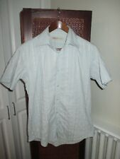 Mens Ted Baker Jade Green Short Sleeve Strip Shirt size 3 (M)
