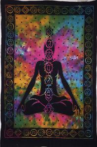 Seven Chakra Yoga Budha Beautiful Desgin Picture Small Cotton Tapestry Poster