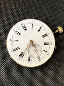 Tissot & Fils Locle Antique Rare Quarter Repeater Pocket Watch Movement As Is