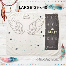Milestone Monthly Baby Blanket Angel Wings Baby Shower Gifts Unisex Photo Prop
