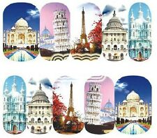 Nail Art Decals Transfers Stickers Wonders Of The World (A-1222)