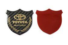 3D Toyota Carbon Fiber Front Body Trunk Rear Side Badge Emblem Sticker Gold