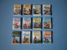 Dolls House miniatures - FAMOUS FIVE books x 12