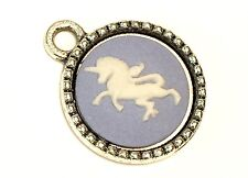 Small Wedgwood Jewelry Cameo in Silver-Plated Pendant