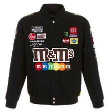 2020 Kyle Busch M&Ms Full-Snap Twill Cotton Jacket Black JH Design