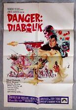 Danger Diabolik Original 1sh Movie Poster MARIO BAVA John Phillip Law HEIST 1968