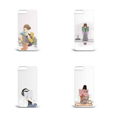 Hard Plastic Phone Case minimalistic paint girl reading book lonely L123