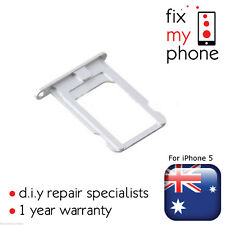 Silver White SIM Card Tray Nano Slot Holder OEM Replacement for iPhone 5