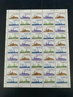 Canada Scott #700, 701, 702, 703 Inland Vessels Full Pane CV $35 MNH