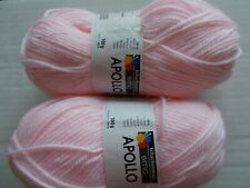 66 yds ea lot of 2 tangerine Schachenmayr Nomotta Divari wool blend yarn