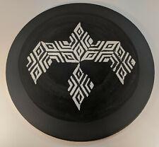 """Branwen the White Raven"" Abstract Wood Block Print"