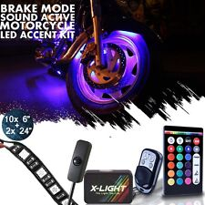Led Neon Accent UnderGlow Motorcycle Light Kit Can-Am Spyder F3-S F3-T RS-S RT-S