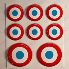 France Stickers Cockade 3D Roundel Resin Domed Adhesive Air Force Sticker
