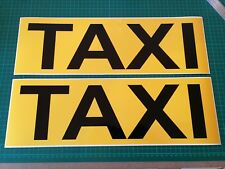 Taxi Magnet Car Sign Door Private Hire Rank Boot Bonnet 460mm x 2 UBER
