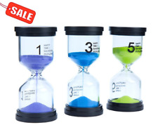 Sandglass Hourglass Sand Clock 1min Lonnom Sand Timer Set 3 Pack Colorful Tools