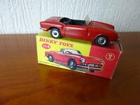 TRIUMPH SPITFIRE - DINKY TOY 114 - Die cast model in ORIGINAL BOX - SEE PHOTOS.