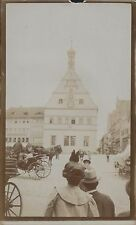 Germany. Rothenberg Clock Tower. People horse carts c.1913 (Jd.160)