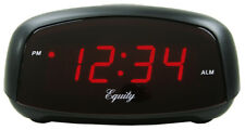 "30007 Equity by La Crosse Compact 0.7"" Red Led Digital Alarm Clock - Refurbished"
