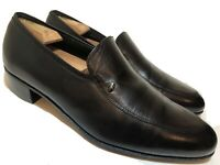 FLORSHEIM Mens 11.5 3E EEE Wide Black Leather Loafers Dress Casual Shoes Slip On