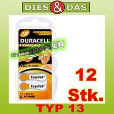 12 Stk. Duracell TYP 13 Easy Tab Hörgeräte Batterien